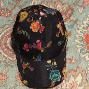Floral black baseball cap new without tag's